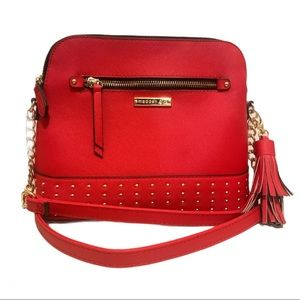 Madden Girl Studded Faux Leather Cross Body Purse